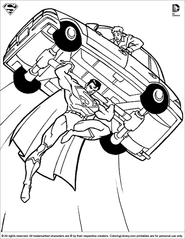 Superman coloring pages to download and print for free