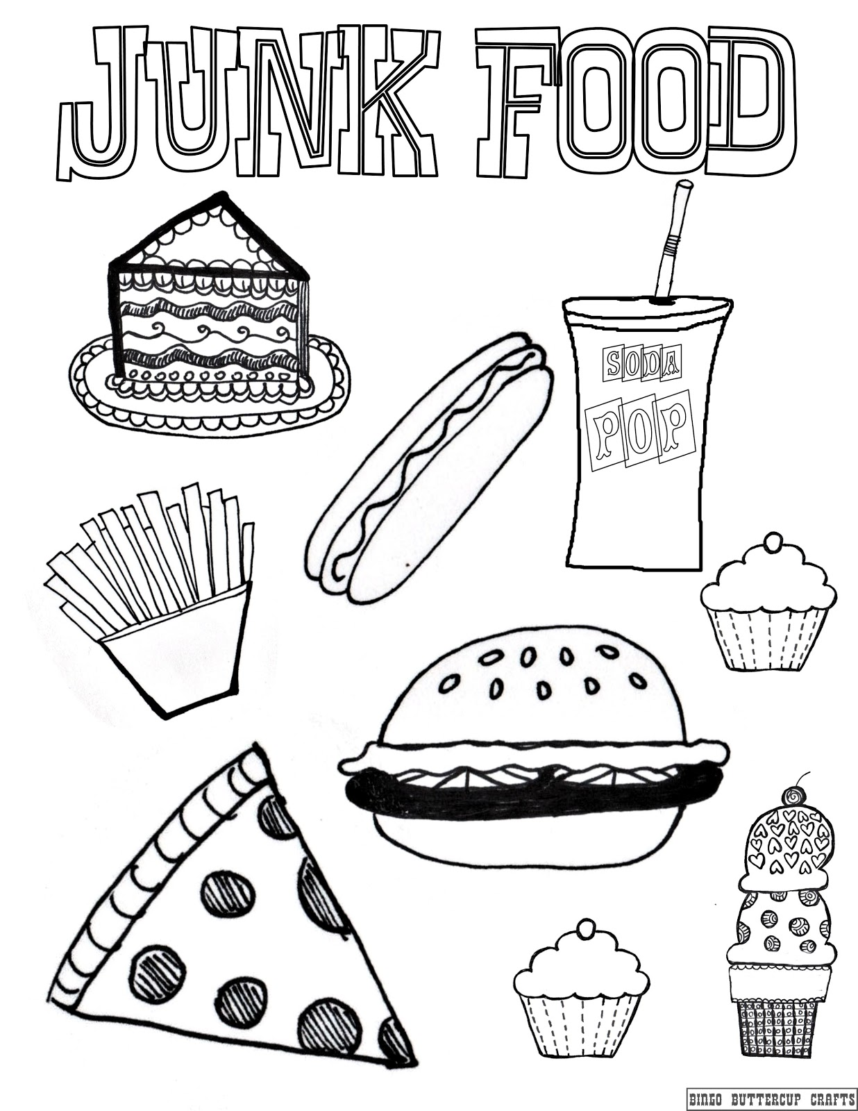 Healthy Food Coloring Pages To Download And Print For Free