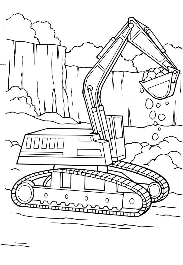 Excavator Coloring Page - Ultra Coloring Pages | 867x600