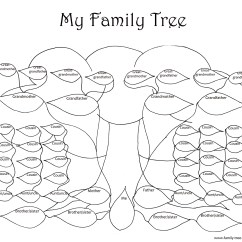 Printable Blank Family Tree Diagram Leeson Wiring Trees Coloring Pages Download And Print For Free