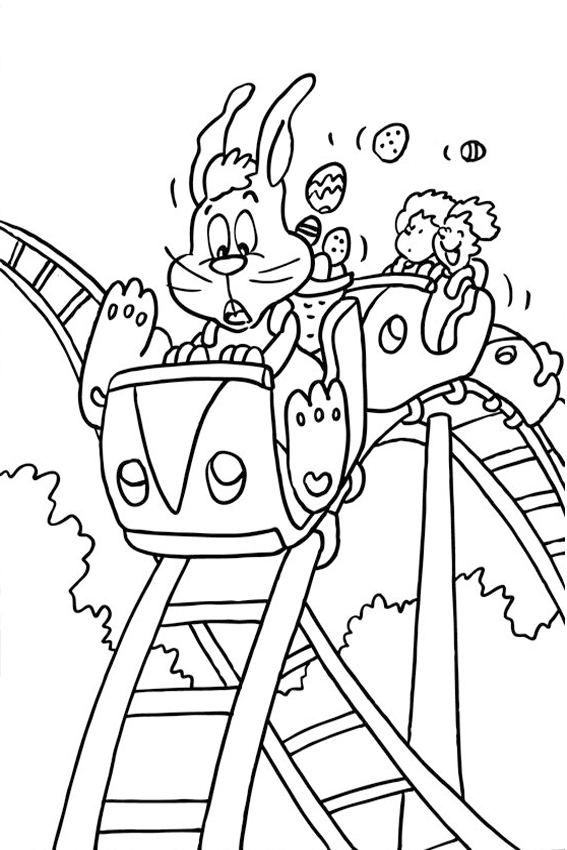 Roller coaster coloring pages download and print for free