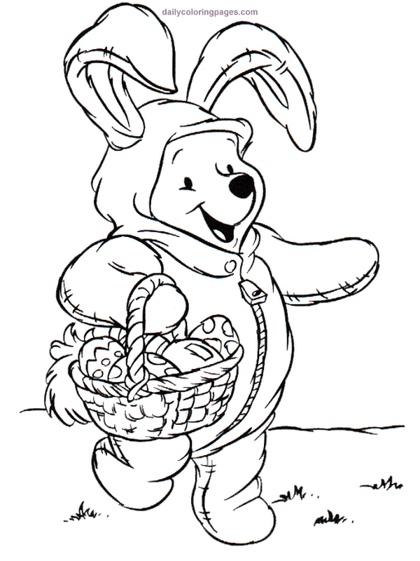 Disney easter coloring pages download and print for free