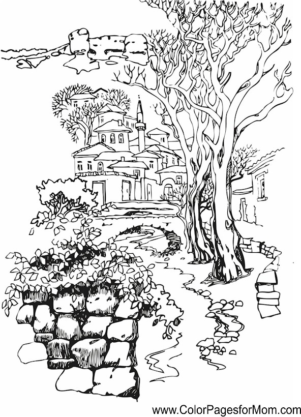 25 Flower Landscape Coloring Pages Pictures And Ideas On Pro Landscape