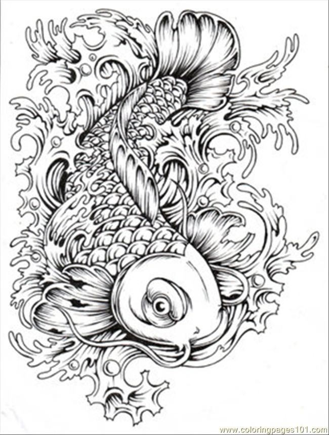 Koi fish coloring pages to download and print for free