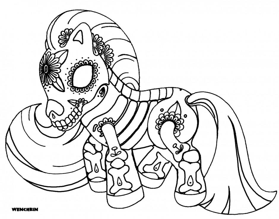 Dia de los muertos coloring pages to download and print