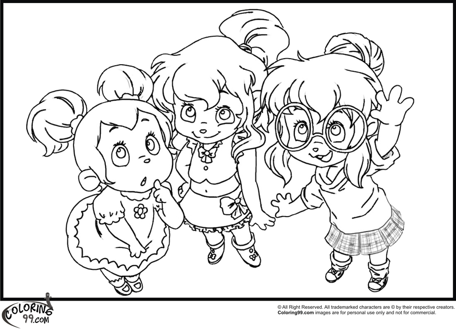 Chipmunks And Chipettes Coloring Pages Of Alvin The