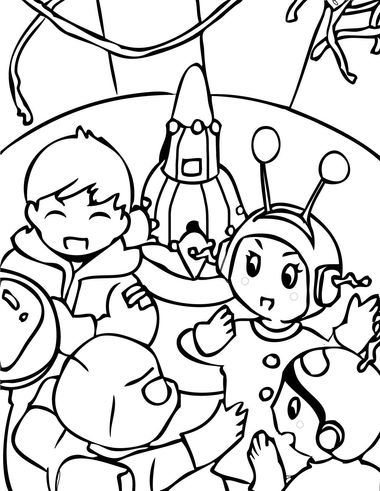 Space coloring pages to download and print for free