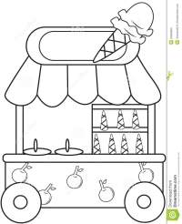 Candy Shop Coloring Pages Page Image Clipart Images