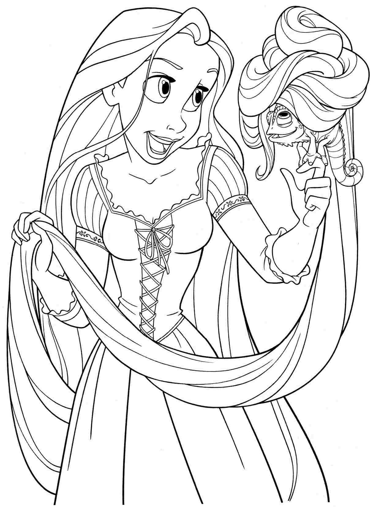 Rapunzel Coloring Pages To Download And Print For Free