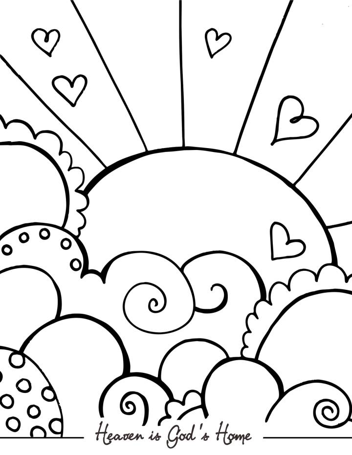 Heaven coloring pages to download and print for free