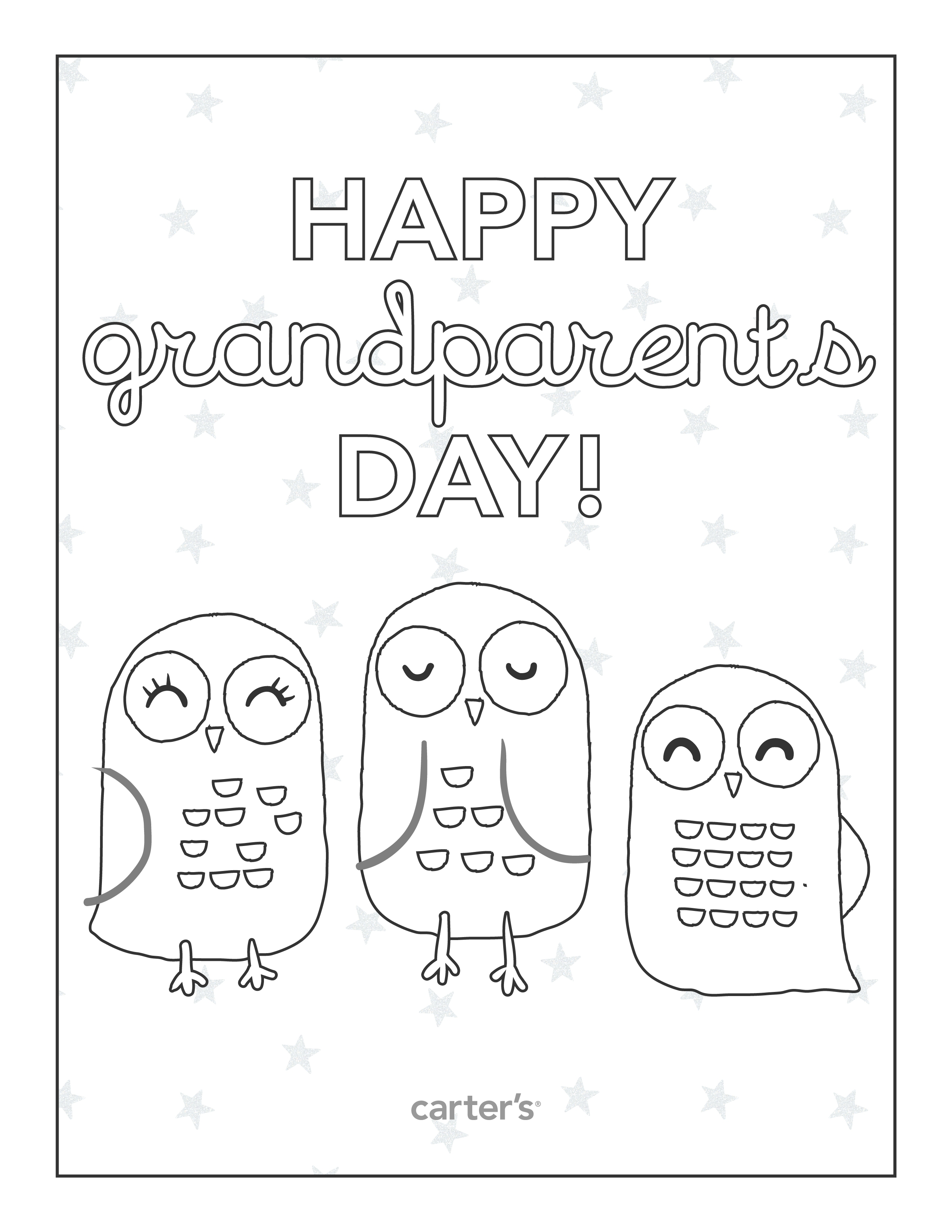Grandparents day coloring pages to download and print for free