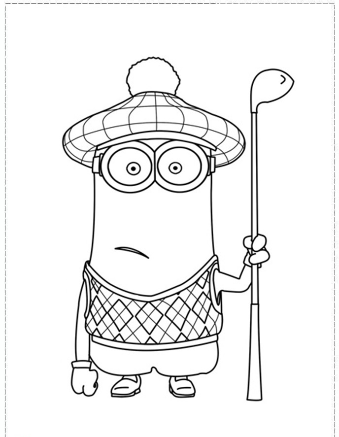 Golf coloring pages to download and print for free
