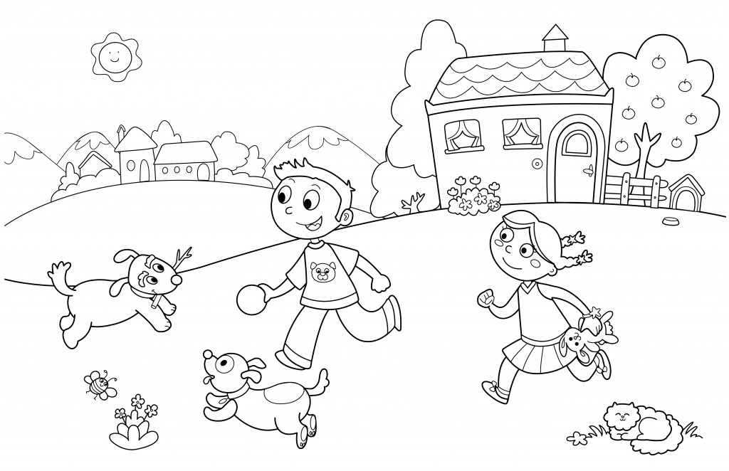 Family fun summer coloring pages download and print for free