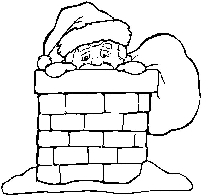 Christmas chimneys coloring pages download and print for free