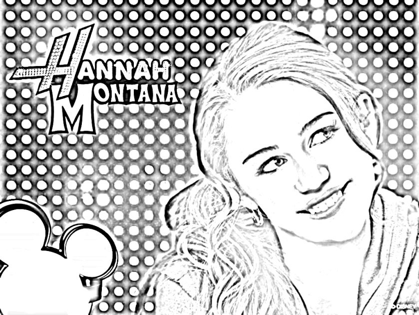 hannah montana coloring pages to download and print for free
