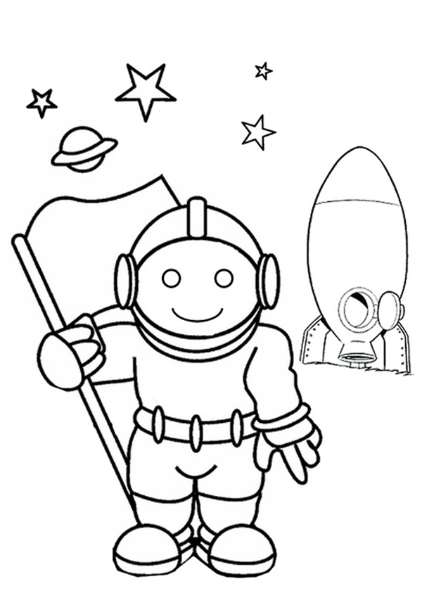 Astronaut coloring pages to download and print for free