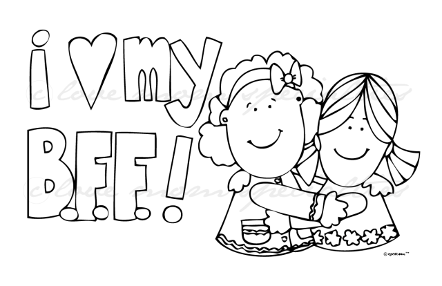 Bff printing coloring pages