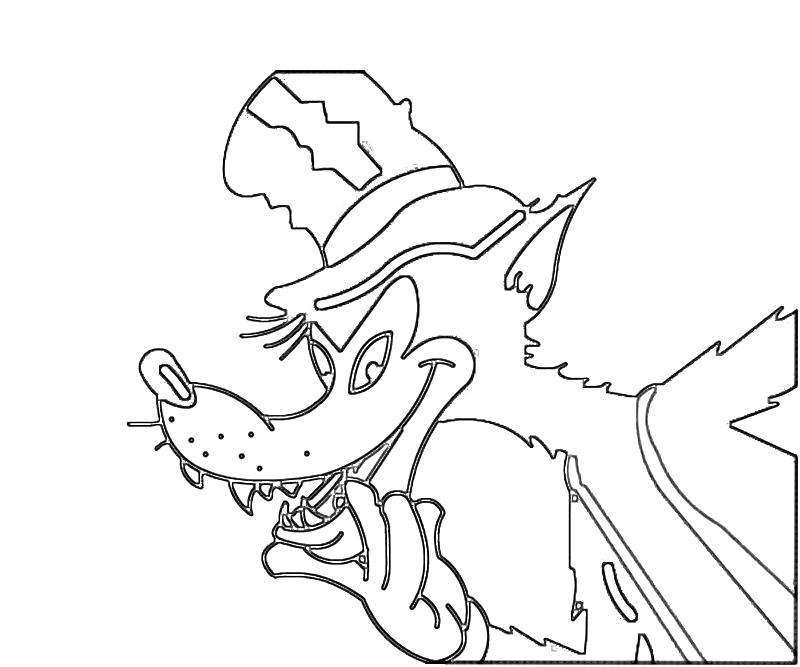 Bad wolf coloring pages download and print for free
