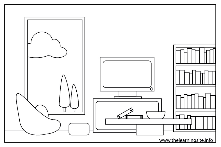 Coloring Pages Things Living Room