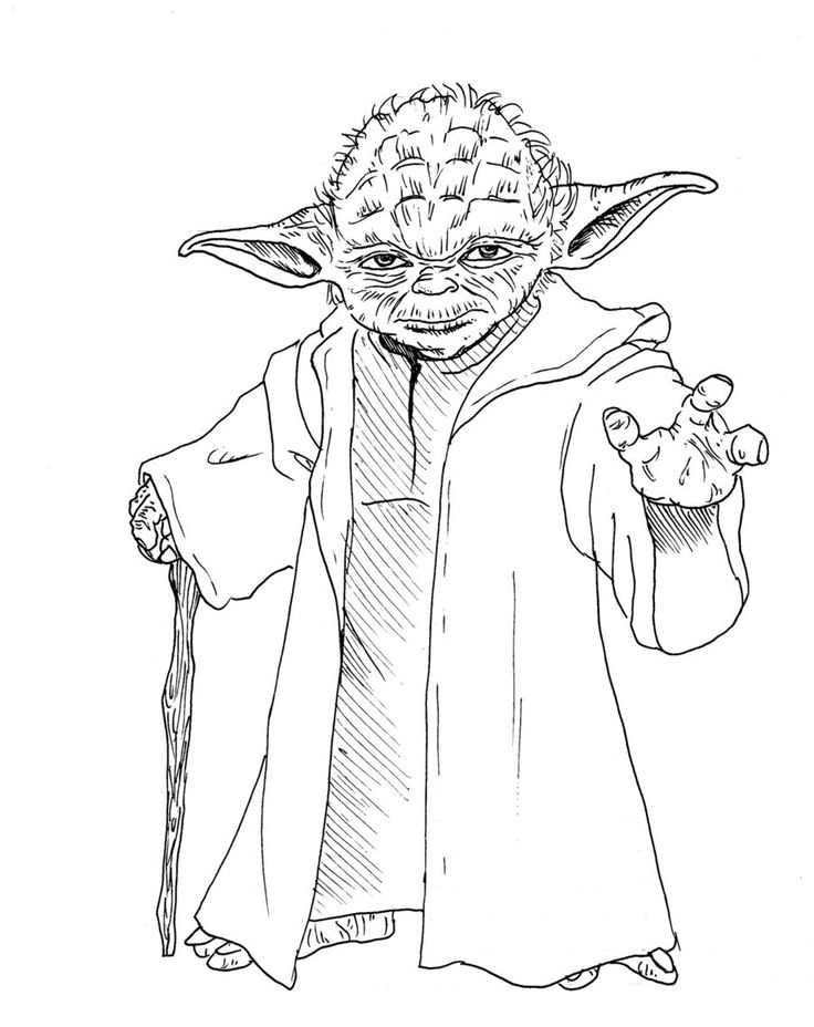 Star wars yoda coloring pages download and print for free