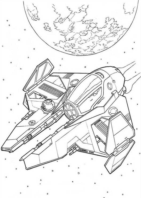 Spaceship coloring pages to download and print for free
