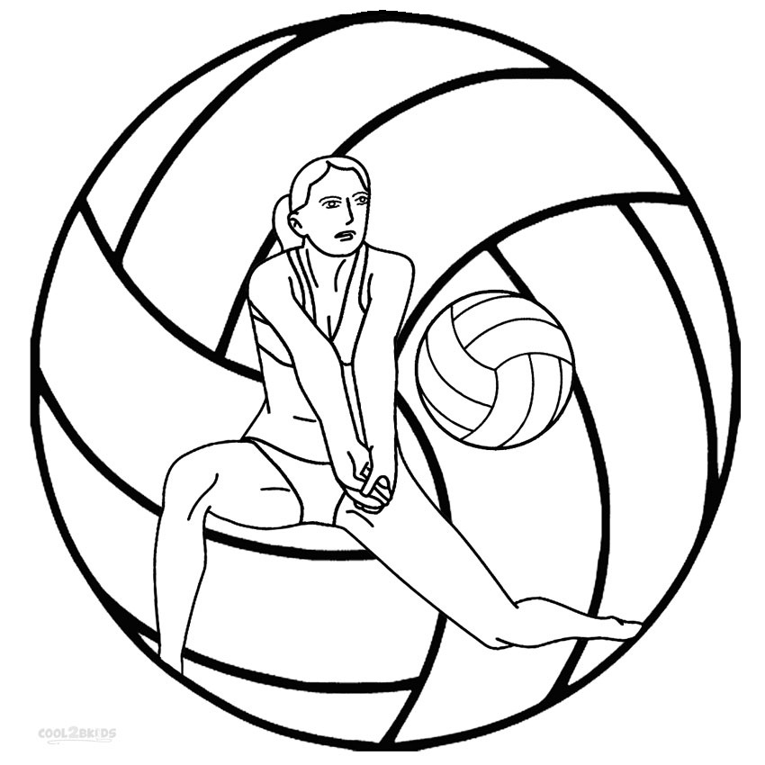 Volleyball coloring pages to download and print for free