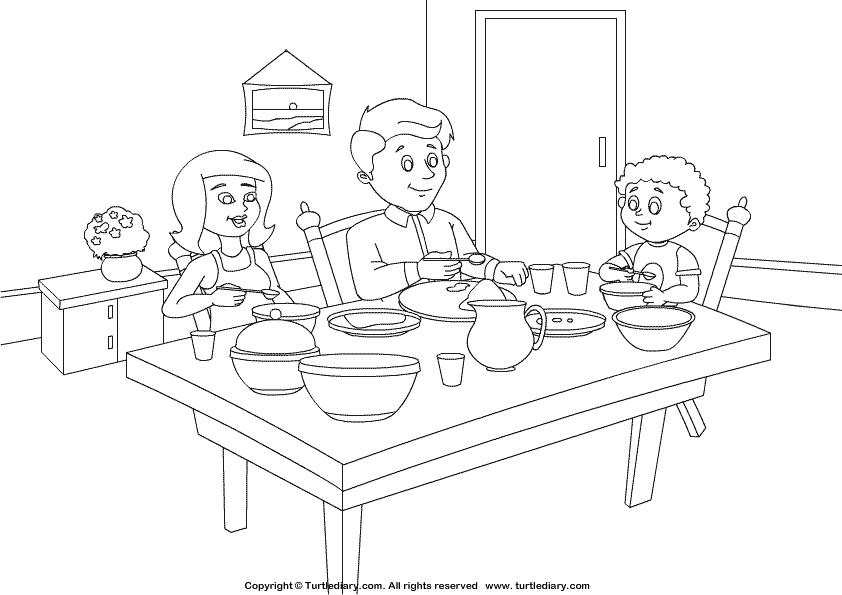 Dining room coloring pages download and print for free