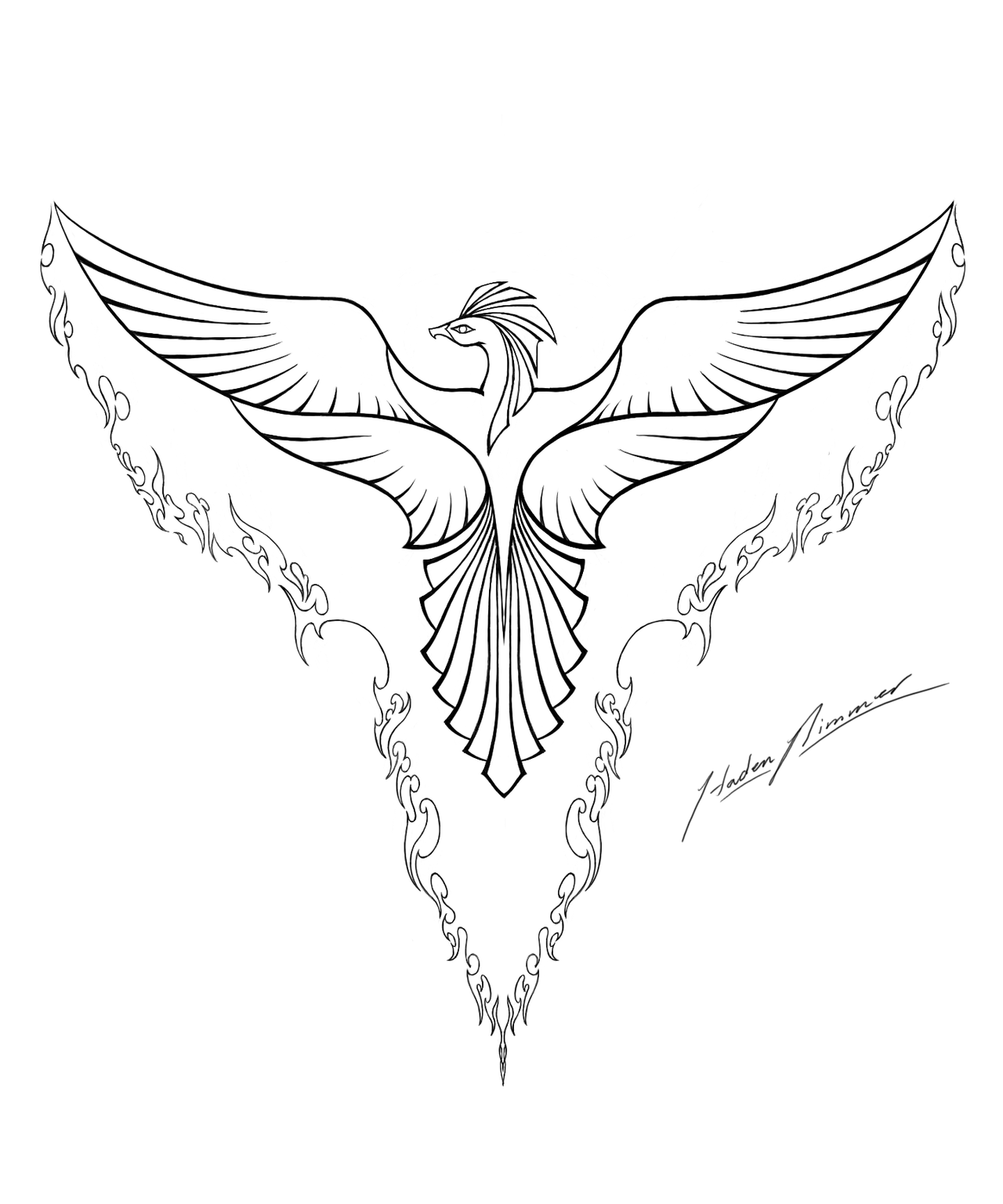 21+ Mind Blowing Phoenix Bird Art Drawings That will