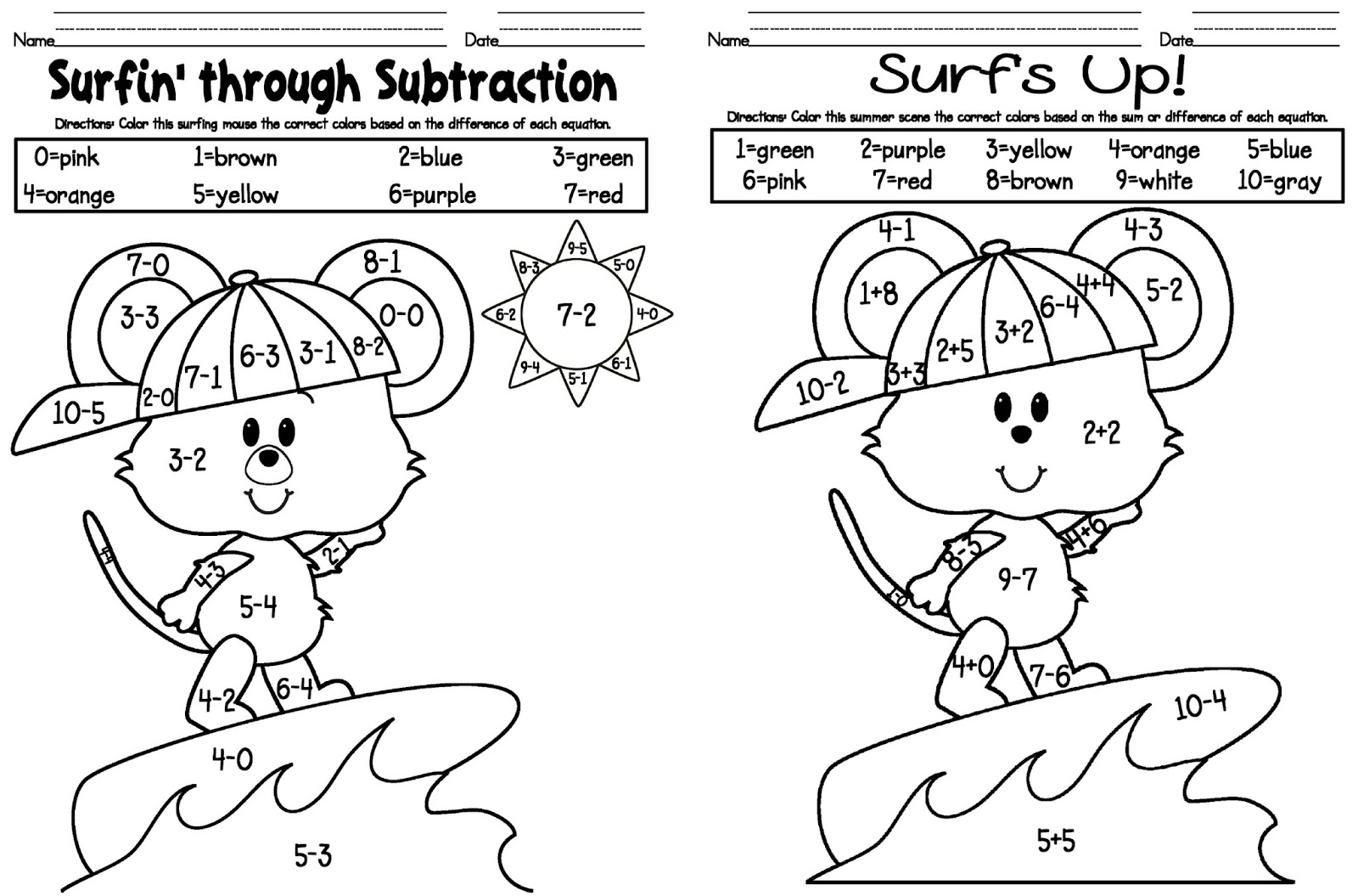 Addition Coloring Pages To Download And Print For Free