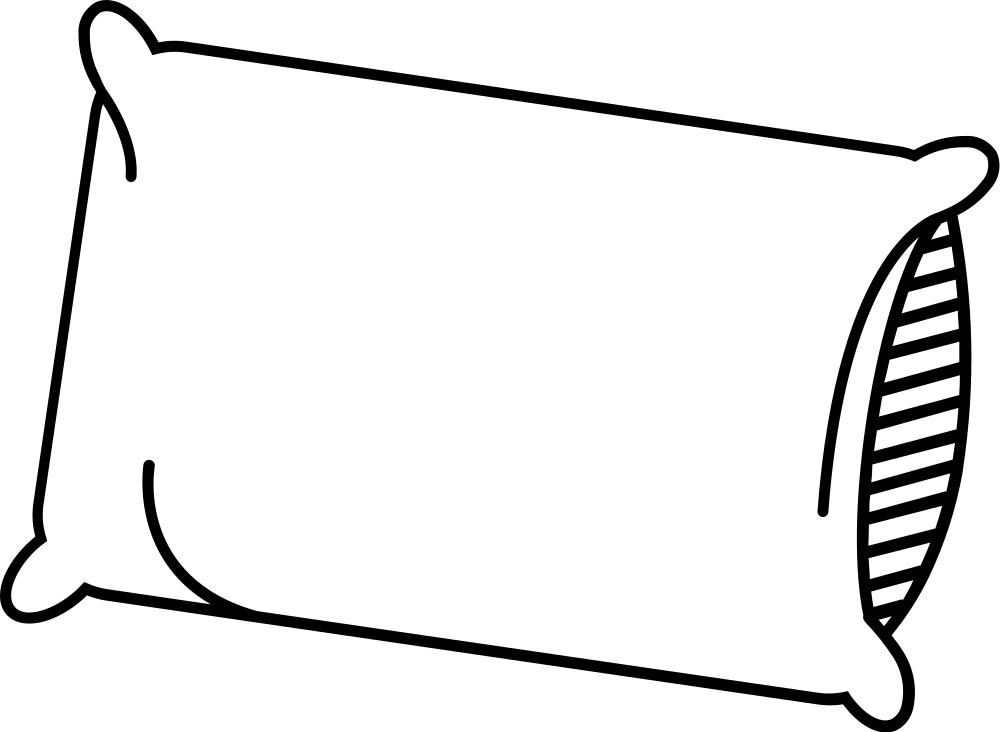 Pillow coloring pages to download and print for free