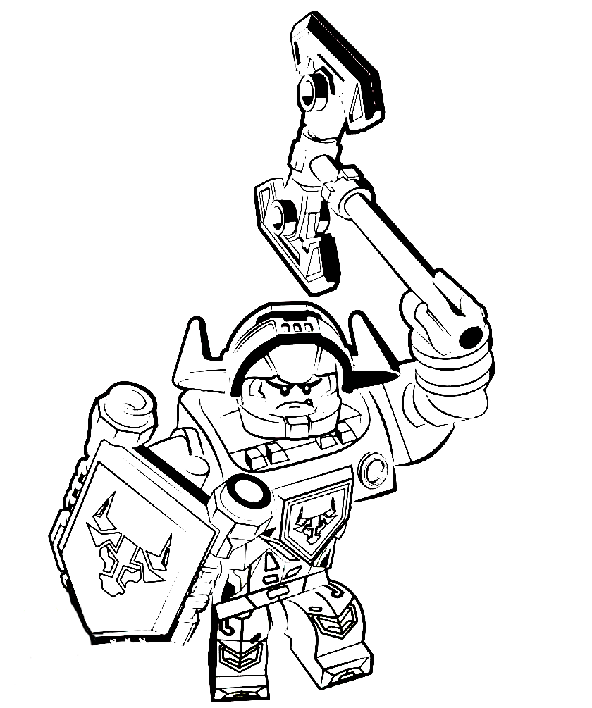 Lego Nexo Nights Coloring Pages To Download And Print For Free