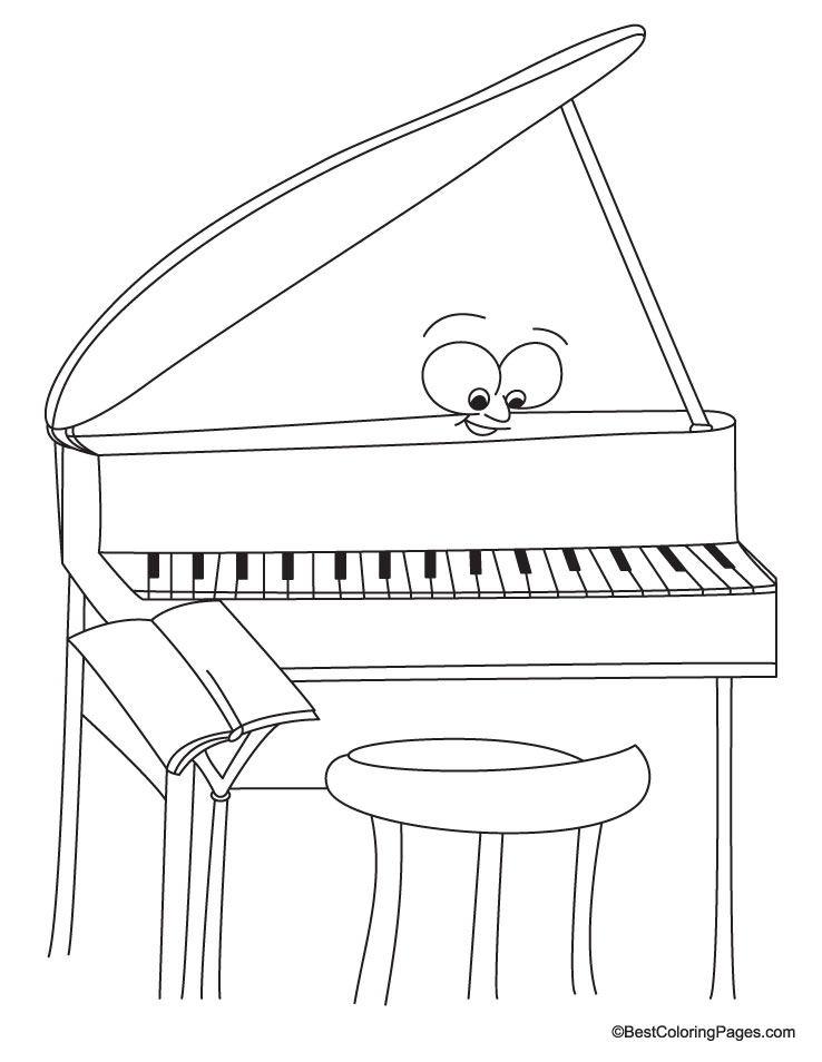 Piano coloring pages to download and print for free