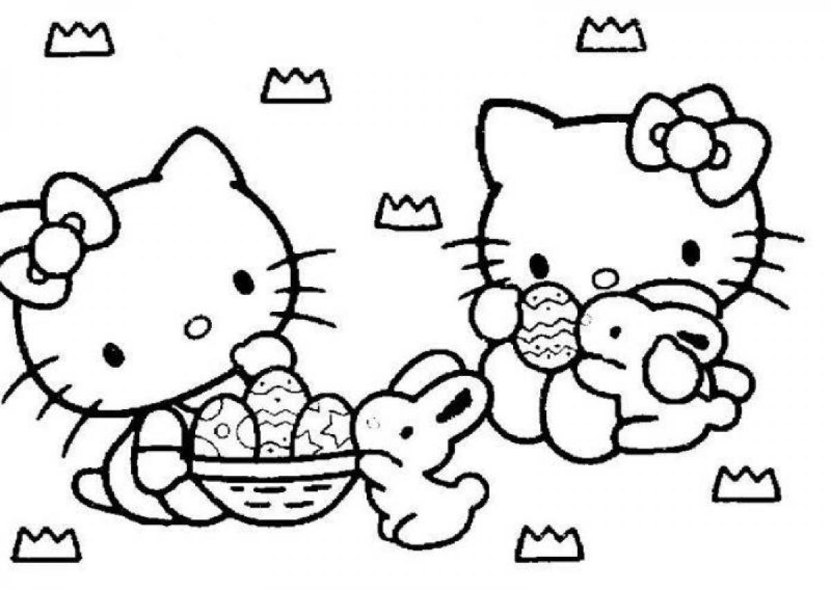 Hello Kitty Easter Coloring Pages To Download And Print
