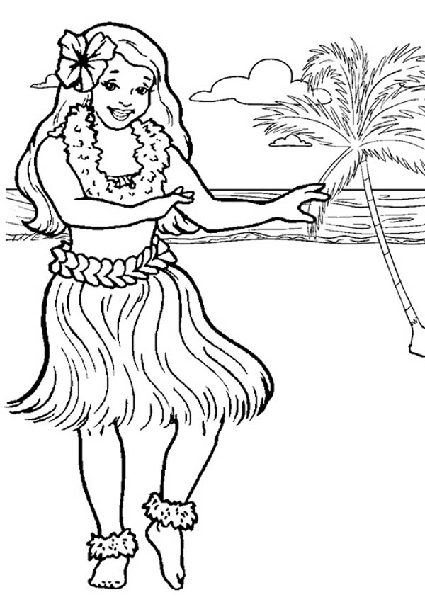 Hawaiian coloring pages to download and print for free