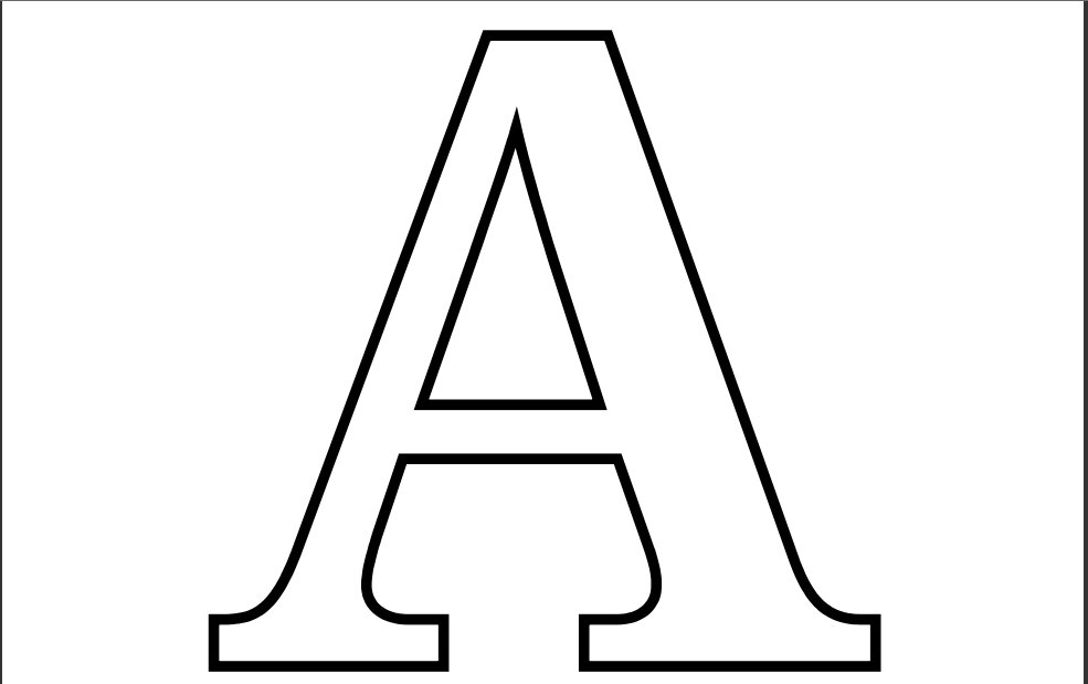 Letter a coloring pages to download and print for free