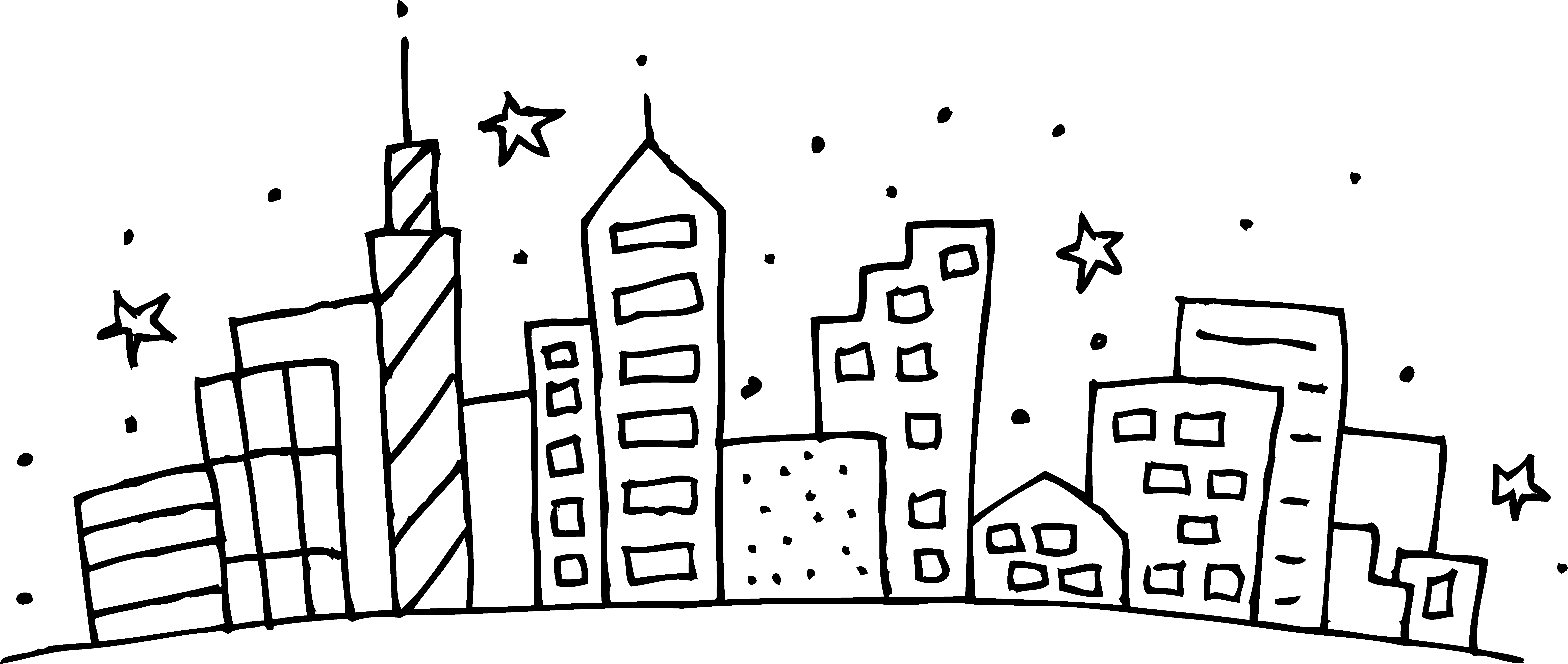 City coloring pages to download and print for free