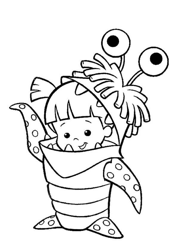 Spooky Monsters Inc Randall Coloring Pages S