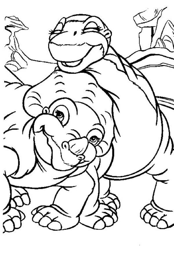 Land before time coloring pages to download and print for free