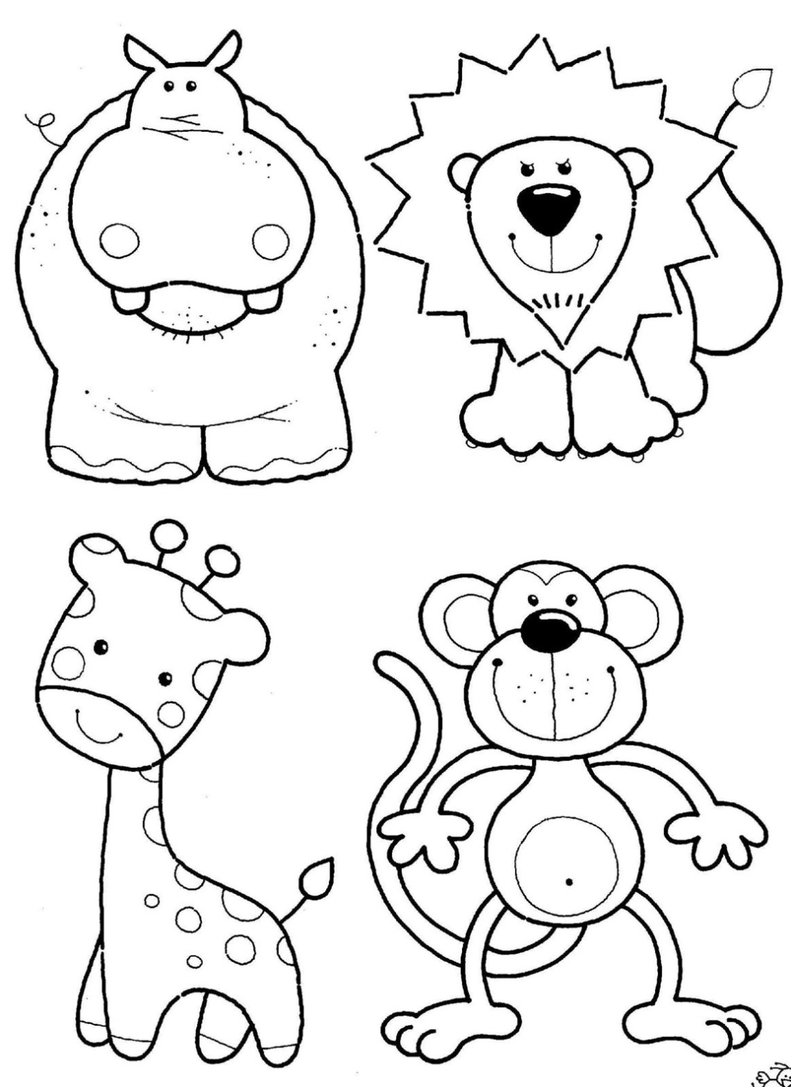 Jungle animal coloring pages to download and print for free | printable colouring pages jungle animals