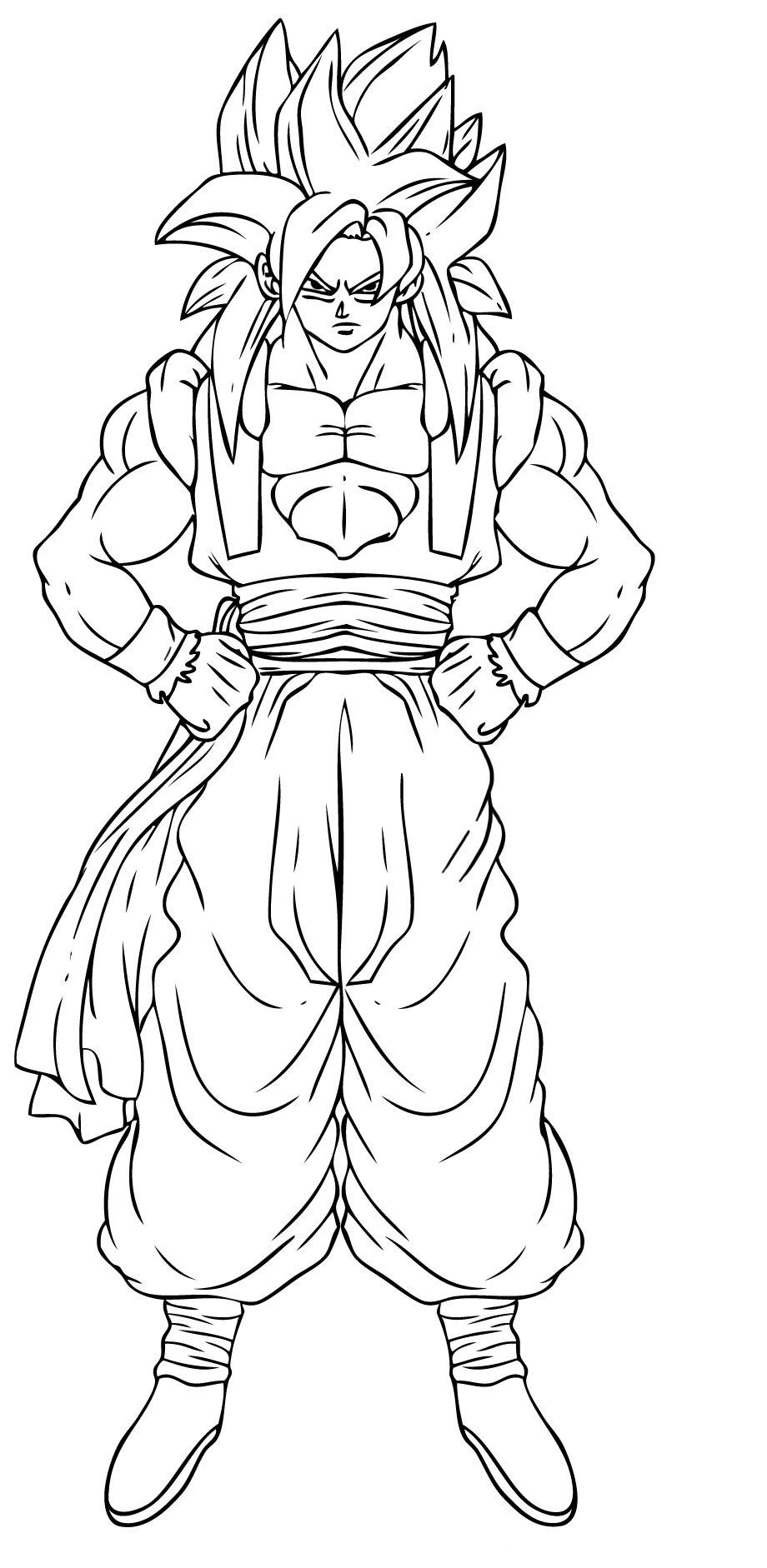 Goku coloring pages to download and print for free