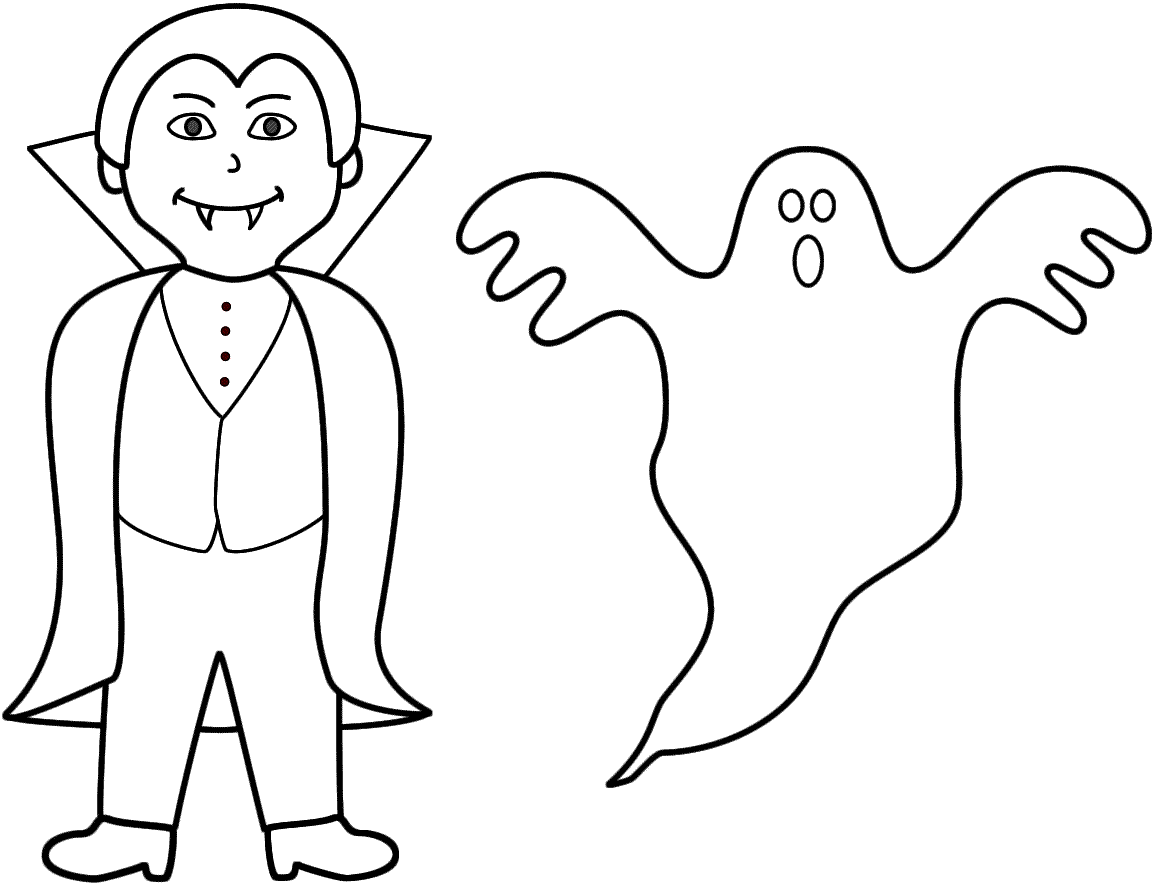 Ghost Coloring Pages To Download And Print For Free
