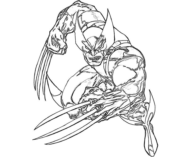 Wolverine coloring pages to download and print for free