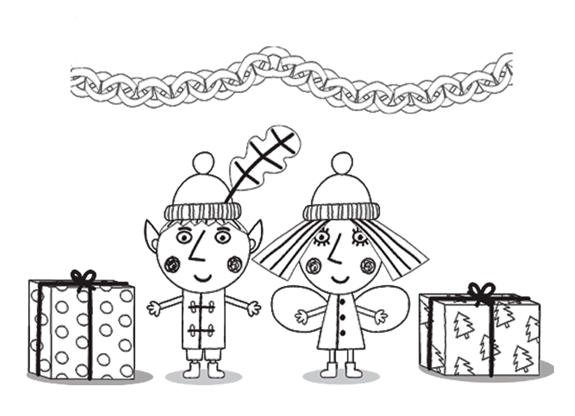 Little kingdom Ben and Holly's coloring pages to download