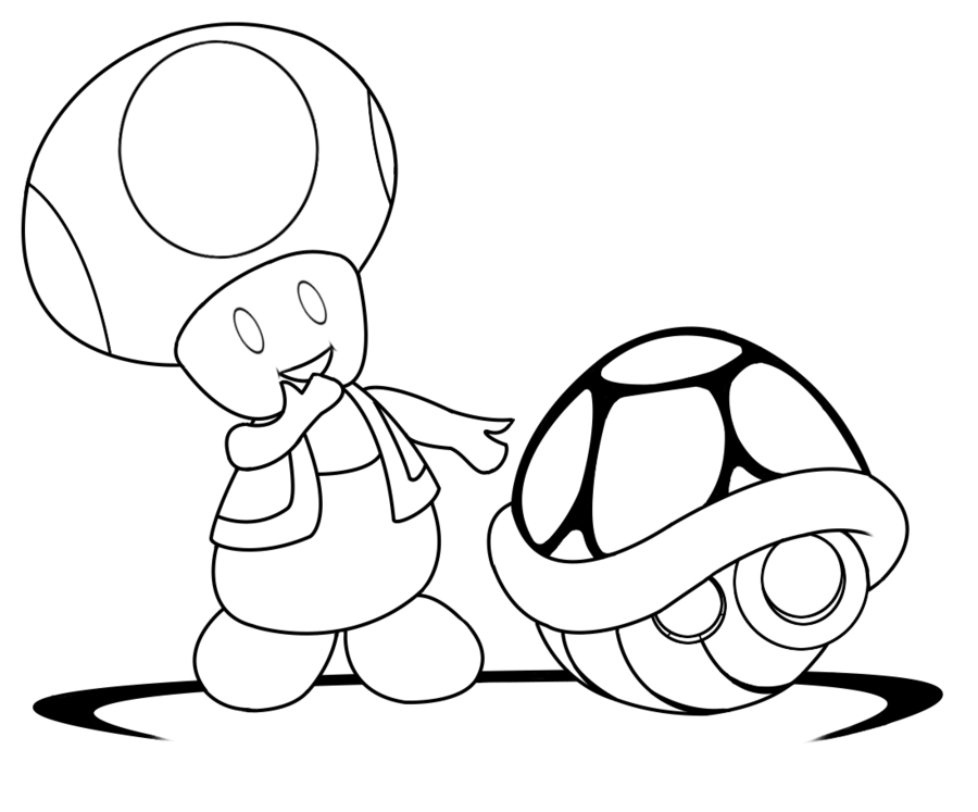 Toad coloring pages to download and print for free