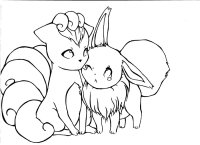 Vulpix coloring pages download and print for free