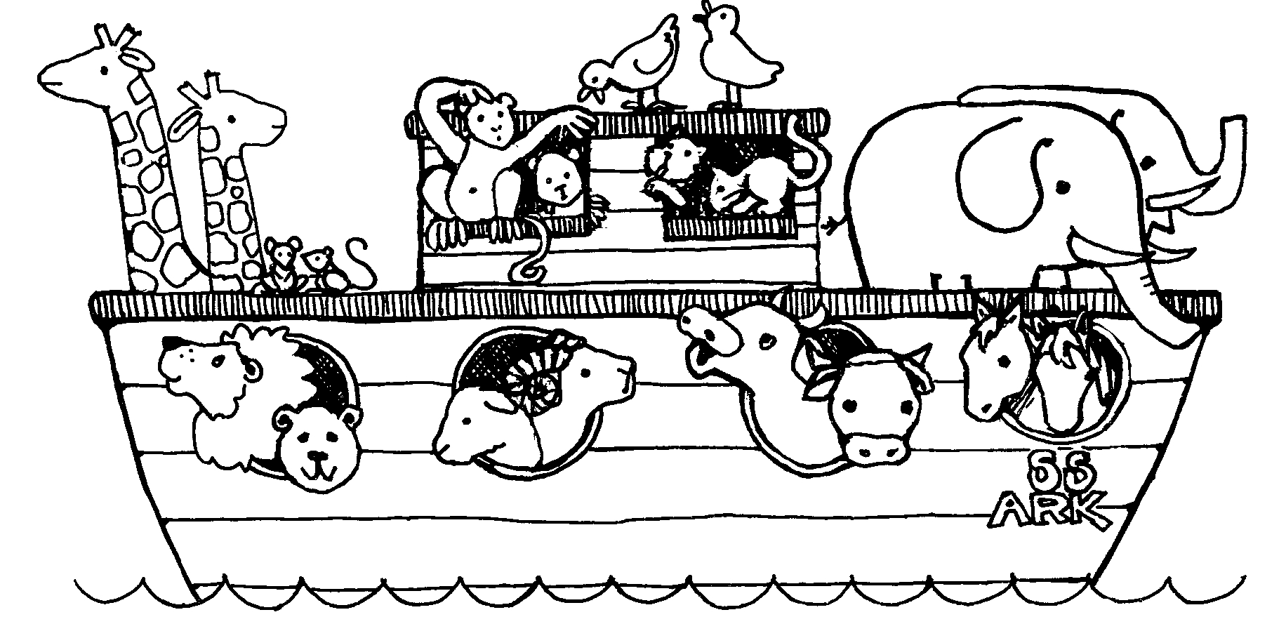 Just The Ark Noah S Ark Coloring Sheet