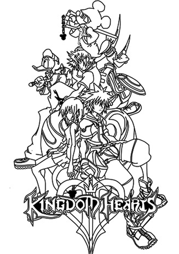 Kingdom hearts coloring pages to download and print for free
