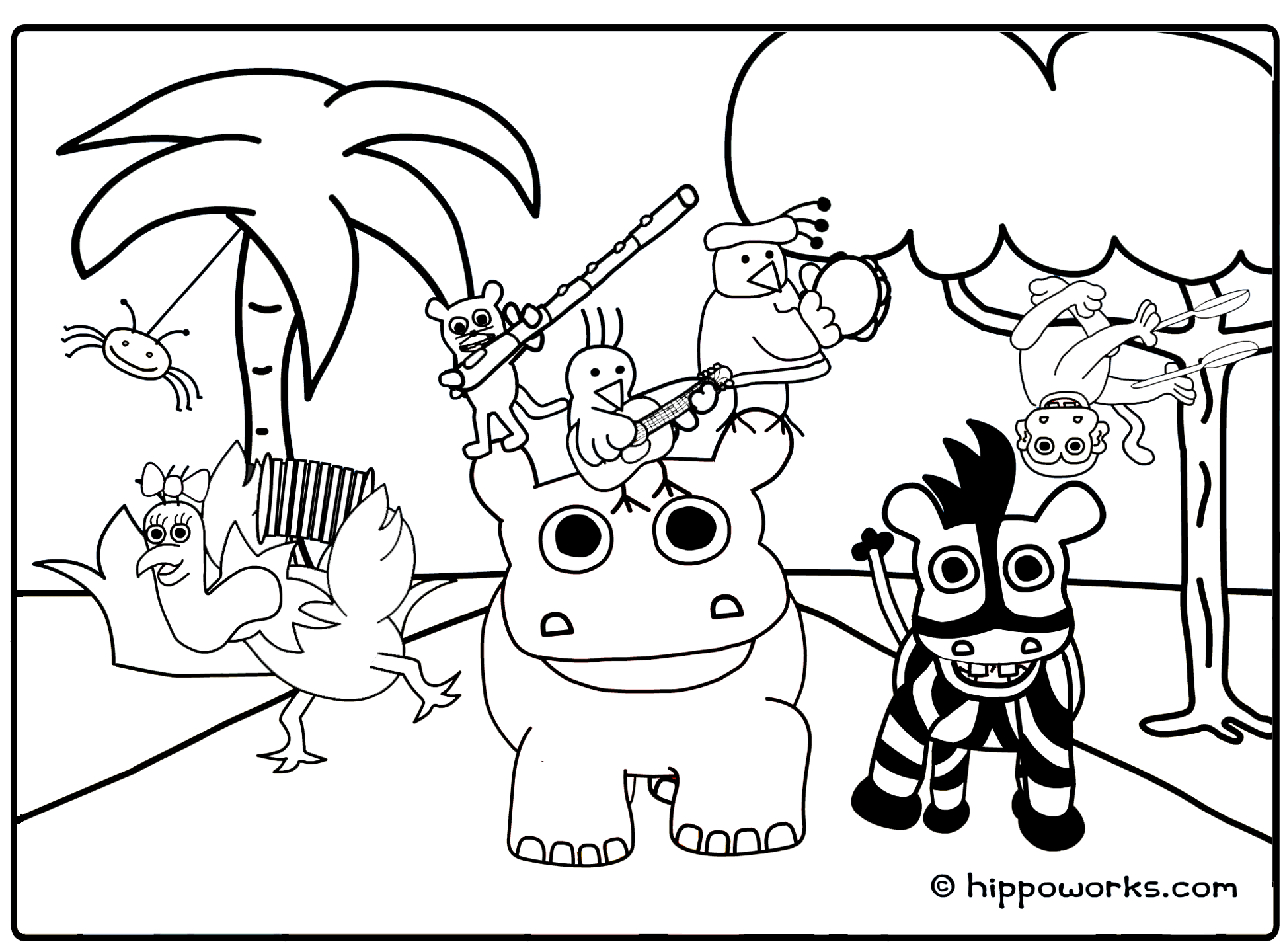 Jungle Animal Coloring Pages To Download And Print For Free