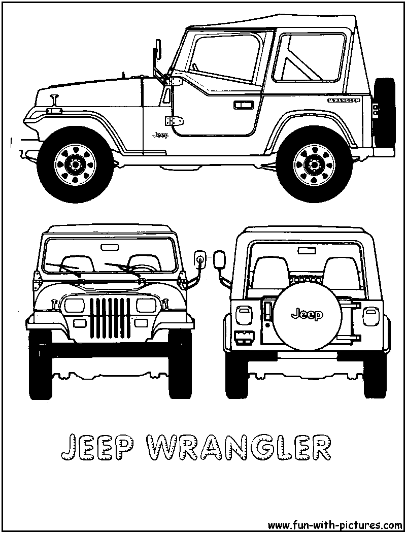 Jeep coloring pages to download and print for free