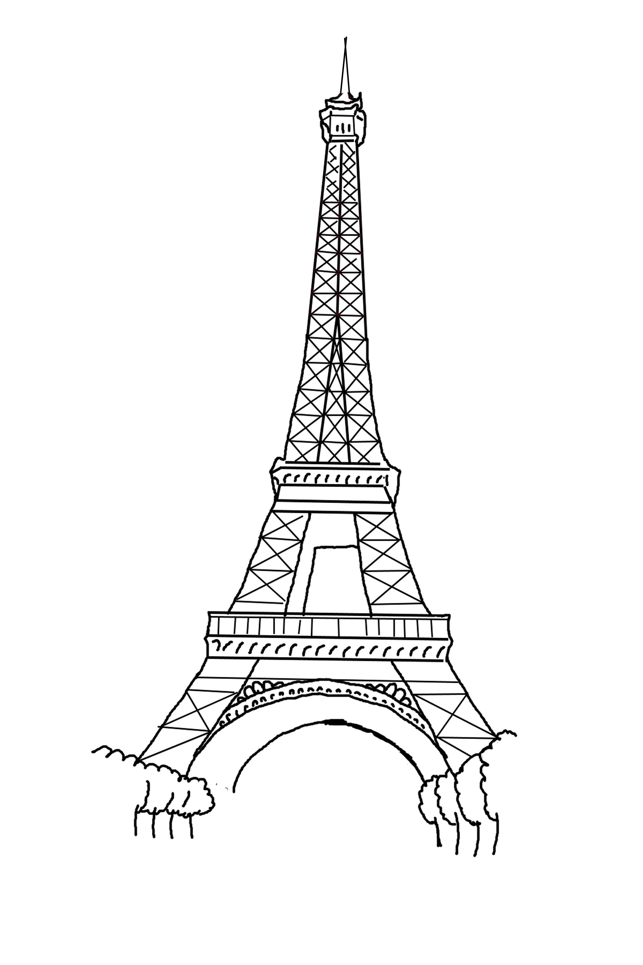 27 Eiffelturm Bilder Zum Ausdrucken - Besten Bilder von ausmalbilder